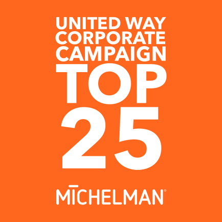 Associate Giving Makes United Way Top 25 List